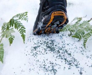 Anti-skli ZeoFriction fungerer også på snø
